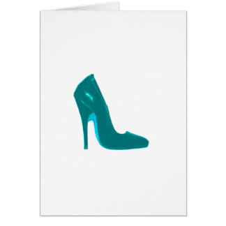 Stiletto Heel Right Side Cyan The MUSEUM Zazzle Gi Card