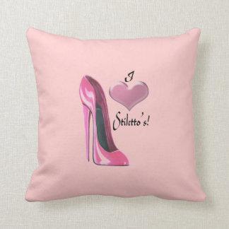 Stiletto Shoe Art Pillows