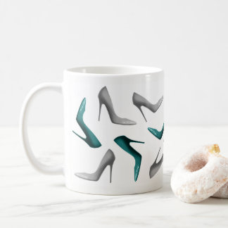 Stiletto Shoes Jade Gray Coffee Mug