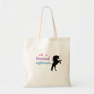 still a bisexual nightmare tote bag