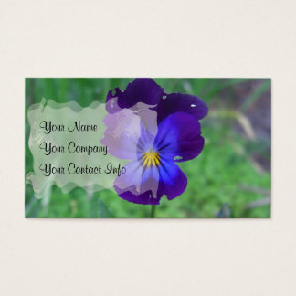 Still Alive Pansy Business Card Template