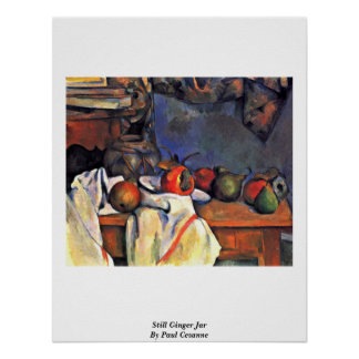 Still Ginger Jar By Paul Cezanne Poster