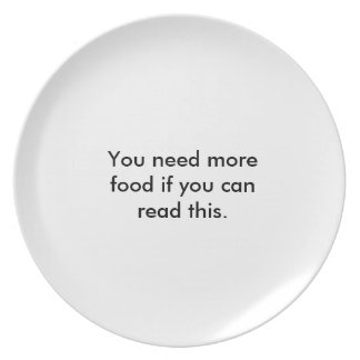 still hungry? party plates