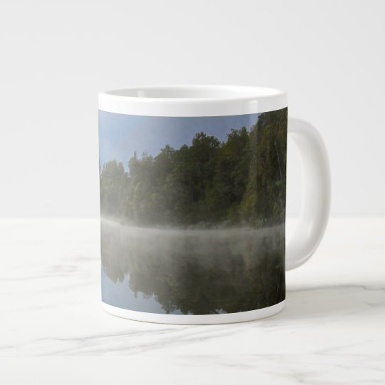 Still Lake Mirrored Tree Reflection Large Coffee Mug