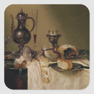 Still Life, 1642 Square Sticker
