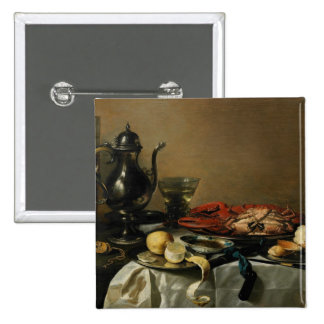 Still Life, 1643 (oil on panel) 2 Inch Square Button