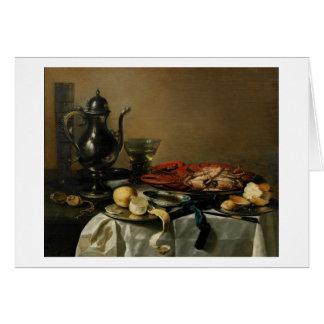 Still Life, 1643 (oil on panel) Card