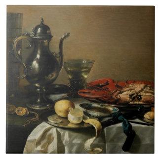 Still Life, 1643 (oil on panel) Ceramic Tile