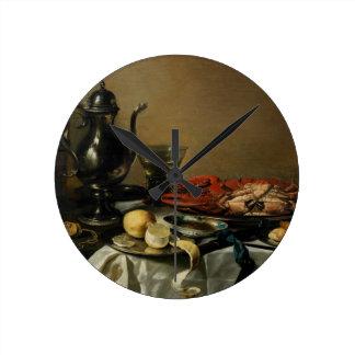 Still Life, 1643 (oil on panel) Clock