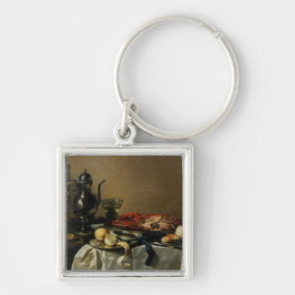 Still Life, 1643 (oil on panel) Silver-Colored Square Keychain