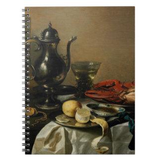 Still Life, 1643 (oil on panel) Spiral Notebook