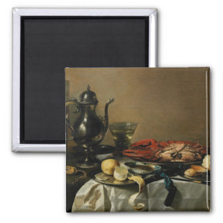 Still Life, 1643 (oil on panel) Square Magnet