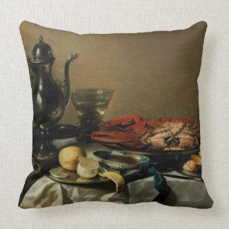 Still Life, 1643 (oil on panel) Throw Pillow
