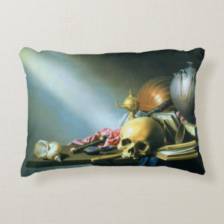 Still Life: An Allegory of the Vanities of Human L Accent Pillow