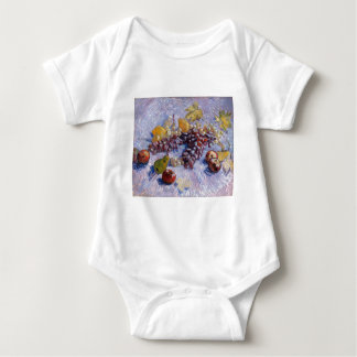 Still Life: Apples, Pears, Grapes - Van Gogh Baby Bodysuit