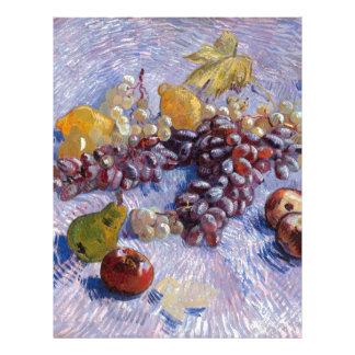 Still Life: Apples, Pears, Grapes - Van Gogh Letterhead