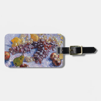 Still Life: Apples, Pears, Grapes - Van Gogh Luggage Tag