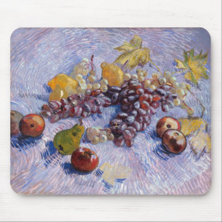Still Life: Apples, Pears, Grapes - Van Gogh Mouse Pad