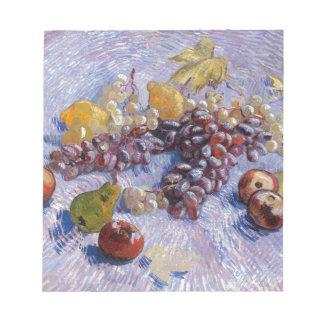 Still Life: Apples, Pears, Grapes - Van Gogh Notepad