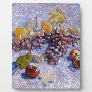 Still Life: Apples, Pears, Grapes - Van Gogh Plaque
