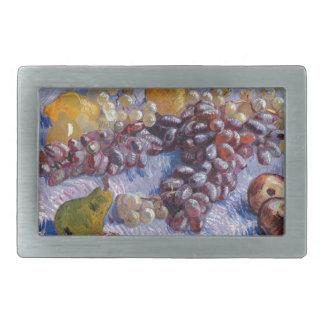 Still Life: Apples, Pears, Grapes - Van Gogh Rectangular Belt Buckles