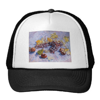 Still Life: Apples, Pears, Grapes - Van Gogh Trucker Hat