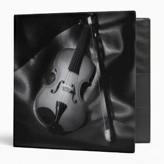 Still-life b&W image of a violin 3 Ring Binder