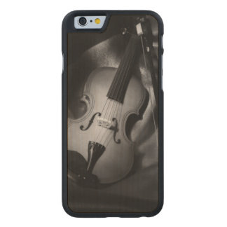 Still-life b&W image of a violin Carved® Maple iPhone 6 Slim Case