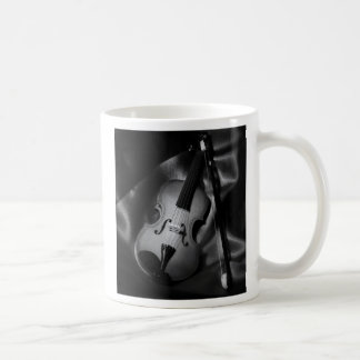 Still-life b&W image of a violin Coffee Mug