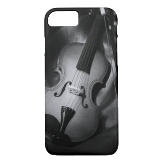 Still-life b&W image of a violin iPhone 8/7 Case