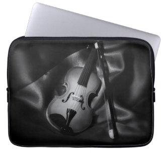 Still-life b&W image of a violin Laptop Sleeve