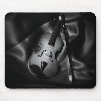 Still-life b&W image of a violin Mouse Pad