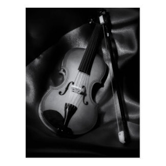 Still-life b&W image of a violin Postcard