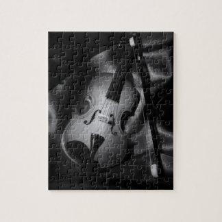 Still-life b&W image of a violin Puzzles