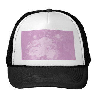 Still Life Background with Pink Flowers Hats
