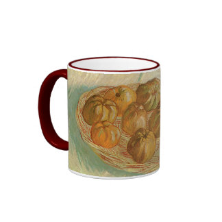Still Life, Basket of Apples by Vincent van Gogh Ringer Coffee Mug