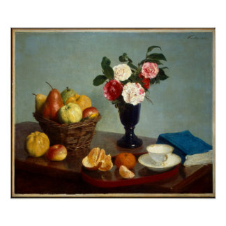 Still Life by Fantin-Latour Poster