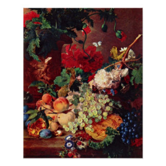 Still Life by Jan van Huysum Poster
