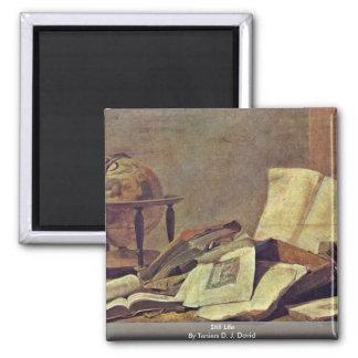Still Life By Teniers D. J. David Square Magnet