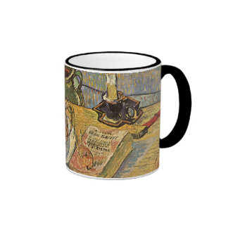 Still Life by Vincent van Gogh, Vintage Fine Art Ringer Coffee Mug