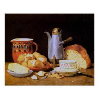 Still life. Coffee, Milk and potatoes, 1896 -Anker Poster