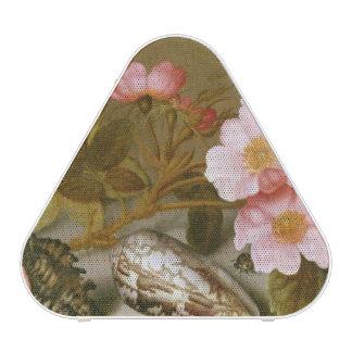 Still life depicting flowers bluetooth speaker