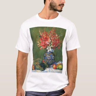 Still Life Flowers and Fruit by Pierre Renoir T-Shirt