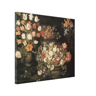 Still Life Flowers, Vintage Floral Baroque Canvas Prints