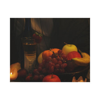 Still Life /Fruit And Wine Canvas Print