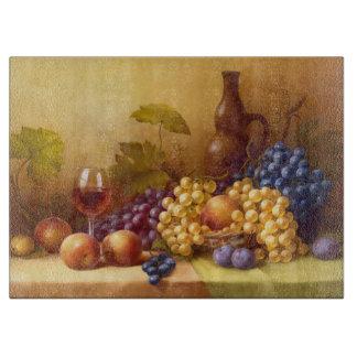 Still Life Fruit/Decorative Glass Cutting Board