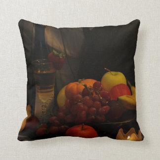 Still Life Fruit & Wine Pillow