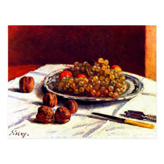 Still life, grapes and nuts by Alfred Sisley Postcard