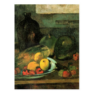 Still life in front of a stitch - Paul Gauguin Postcard