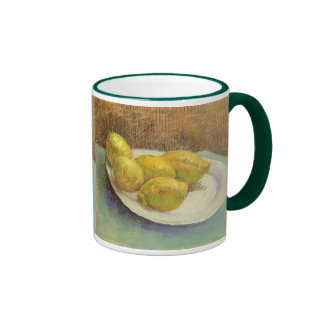 Still Life Lemons on a Plate by Vincent van Gogh Ringer Coffee Mug
